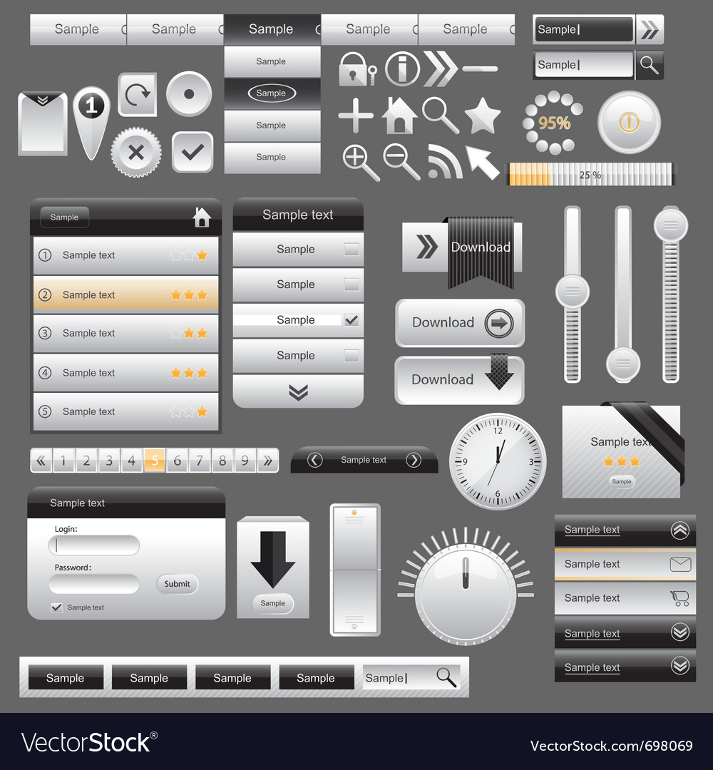 Web and mobile interface elements