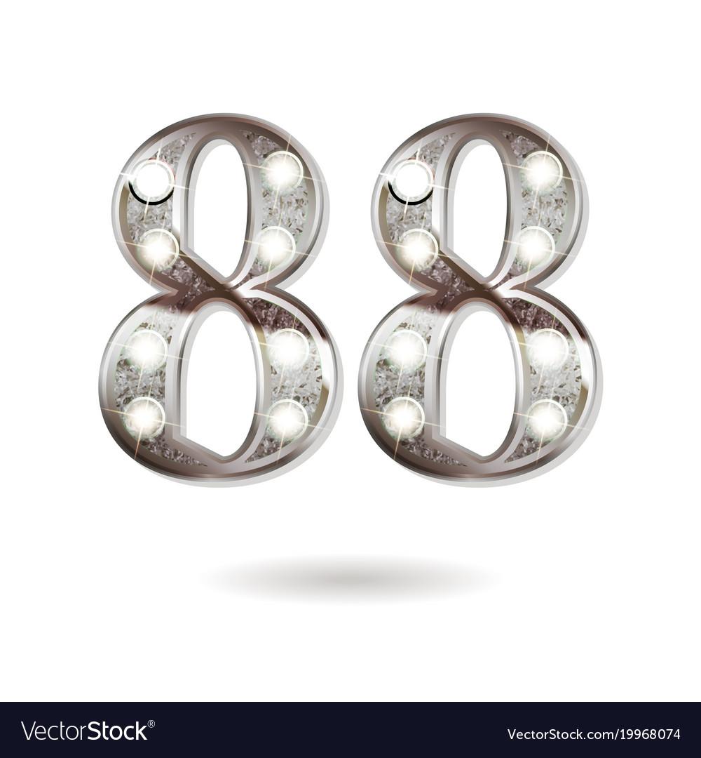 88 years anniversary celebration design vector image
