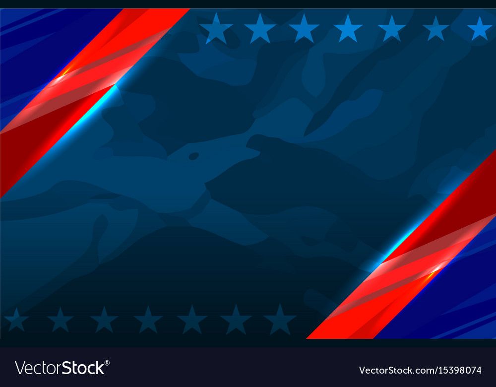 America flag color template vector image