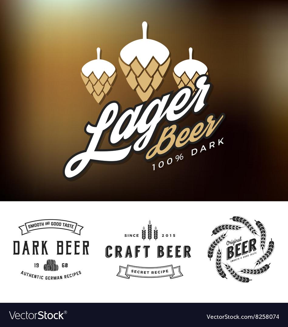 Beer logo and label design