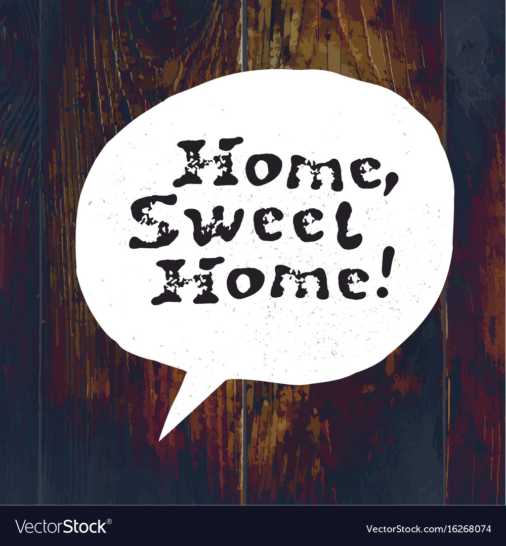 Home sweet home lettering hand drawn greeting