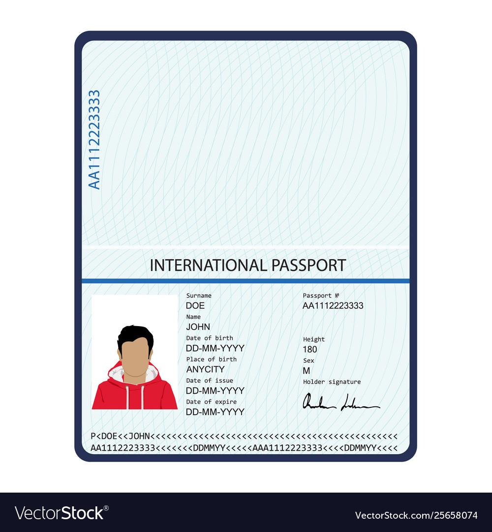 Passport identification document