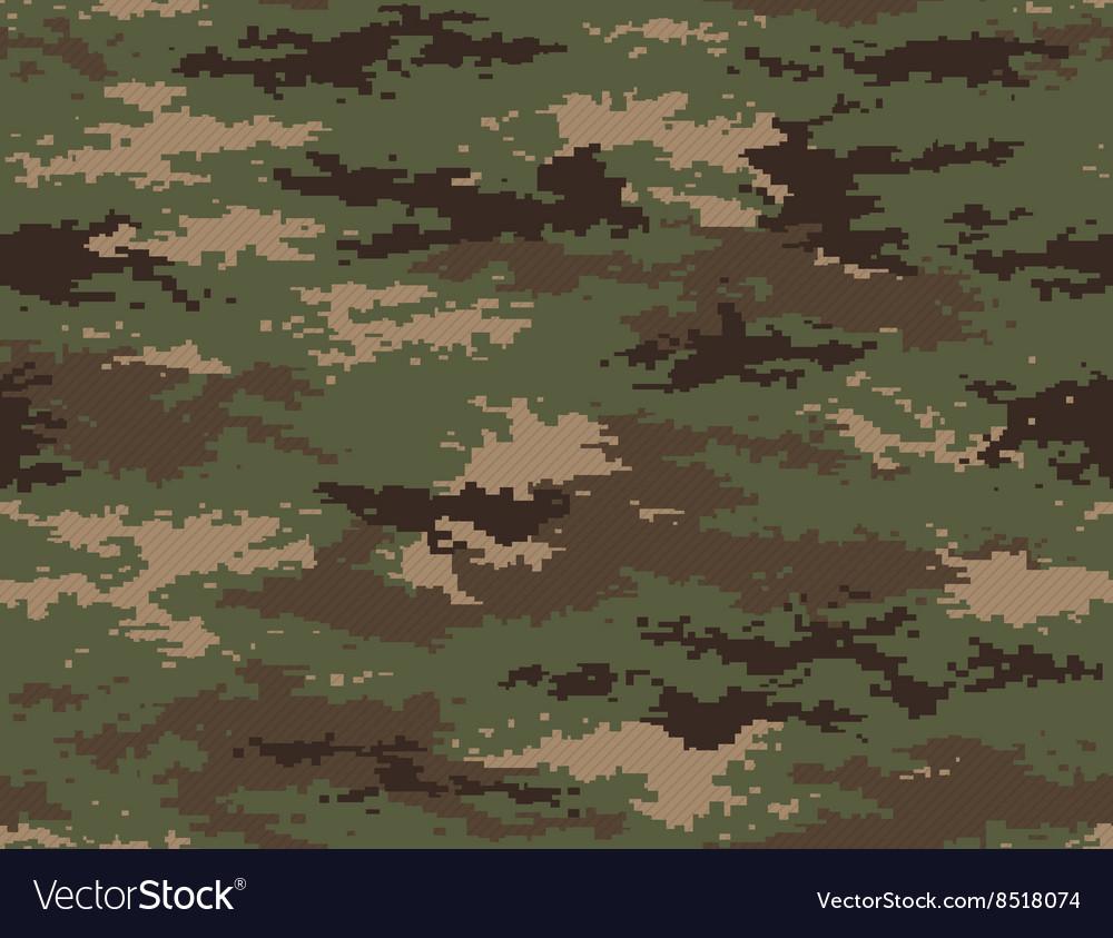 Pixel camouflage woodland green seamless pattern