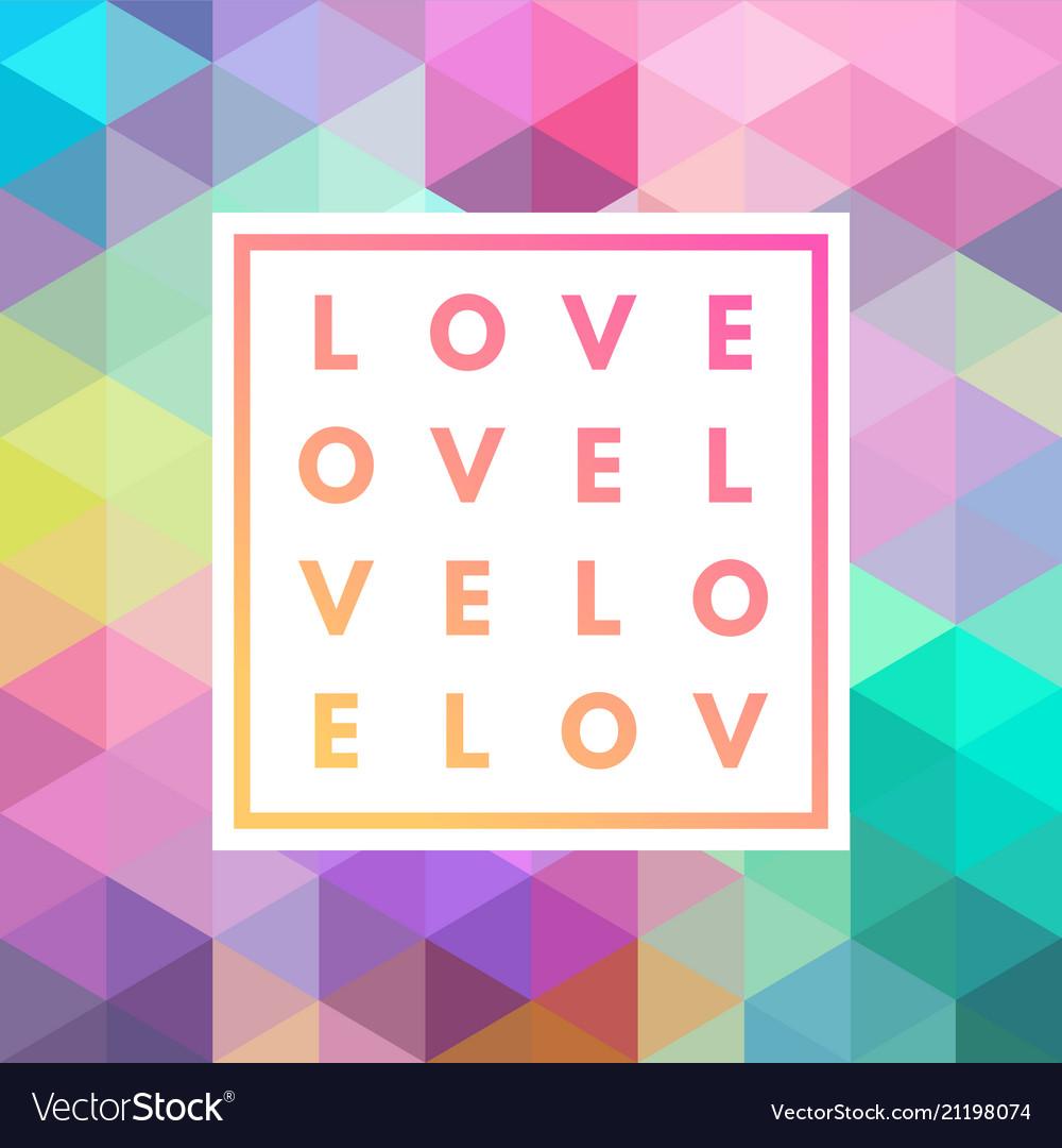 Romantic love minimal card
