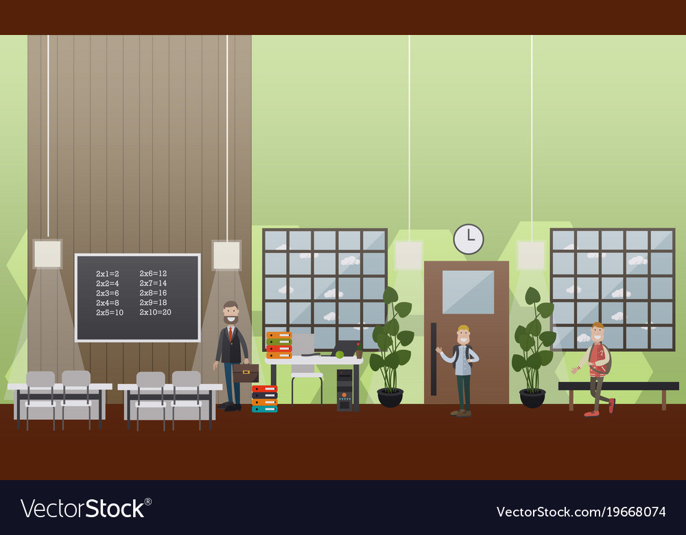 School concept in flat style