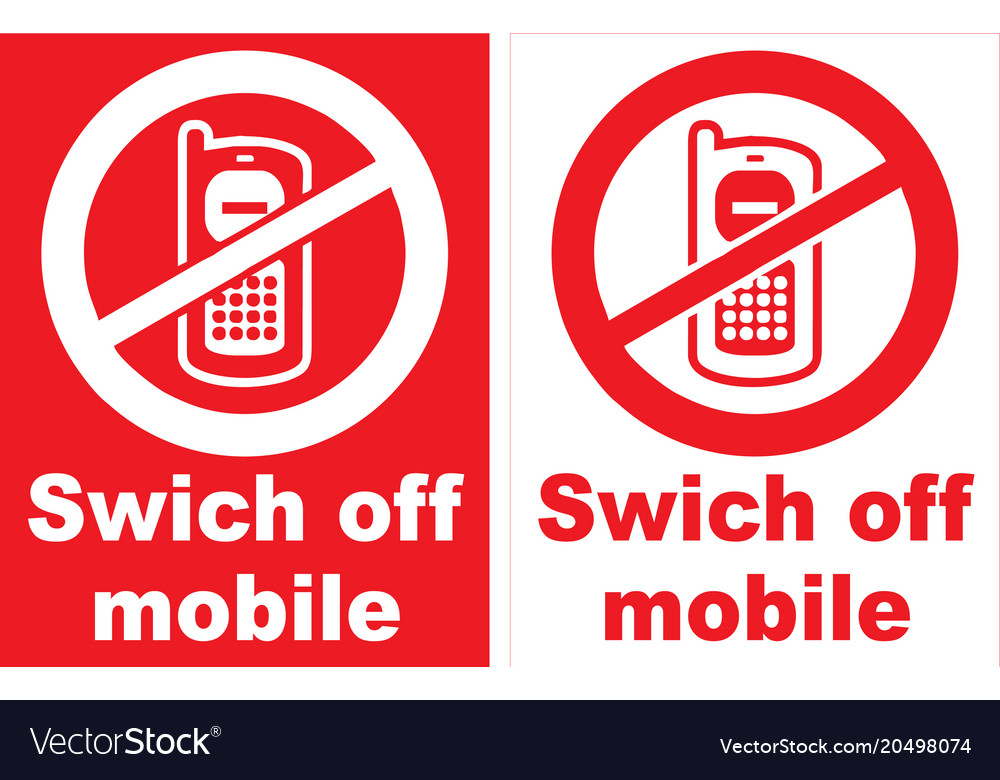 turn off mobile phone sign royalty free vector image
