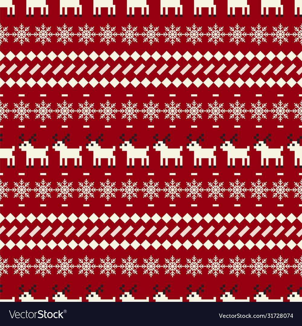 Winter christmas sweater seamless pattern