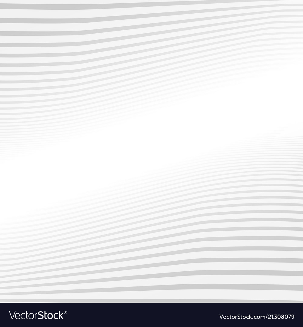 Abstract gray lines wave pattern on white