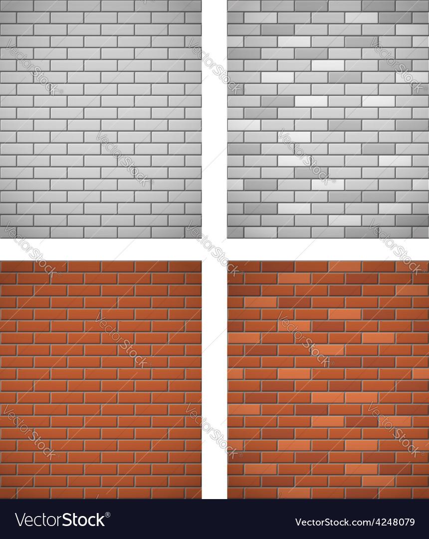 Brick wall 05 vector image