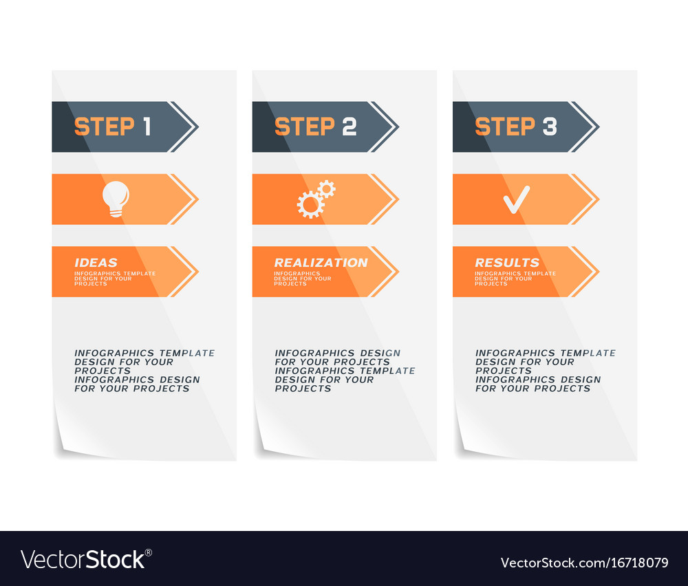 Corporate design of paper flyers or web banners vector image