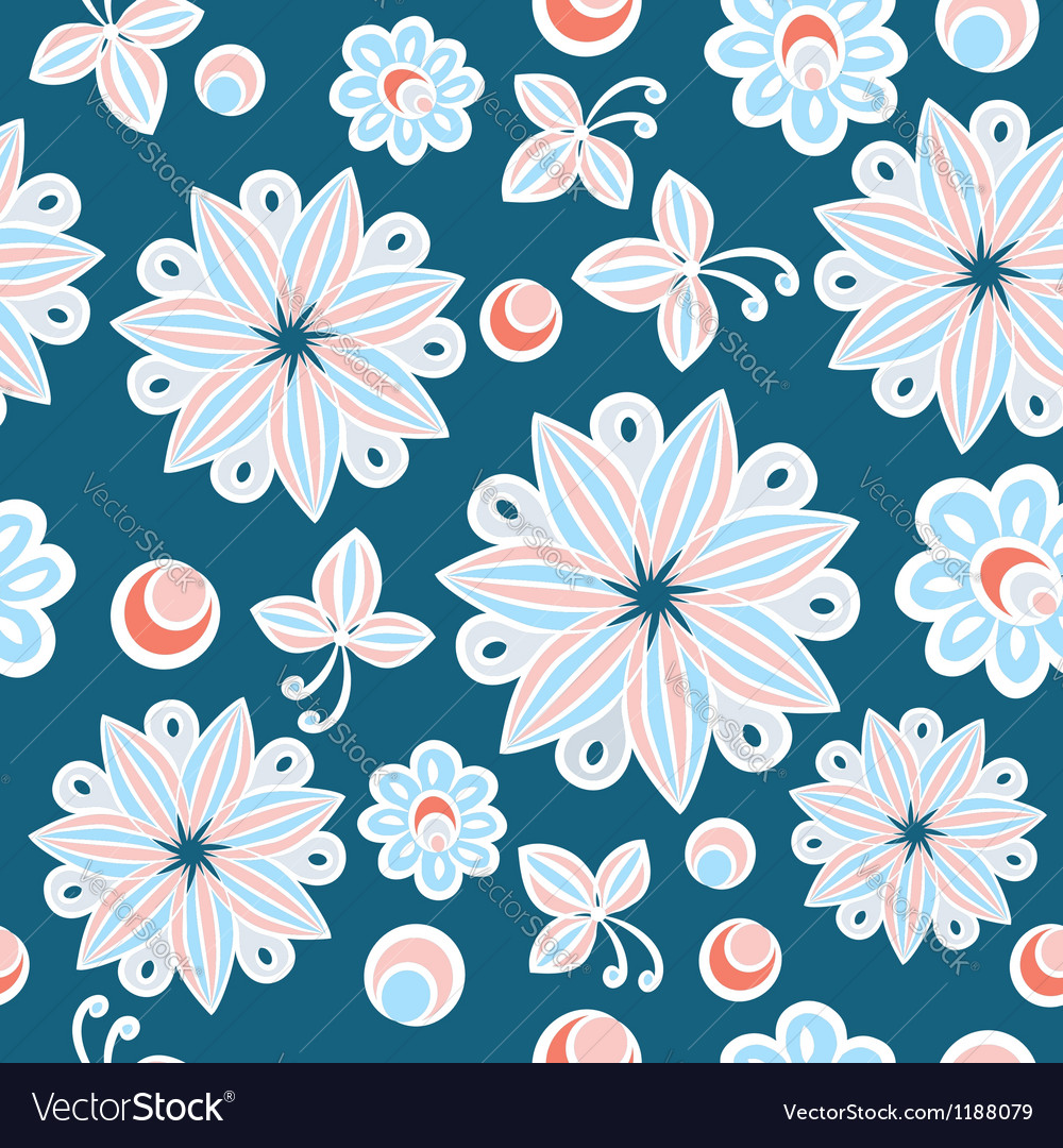 Seamless floral hand-drawn background