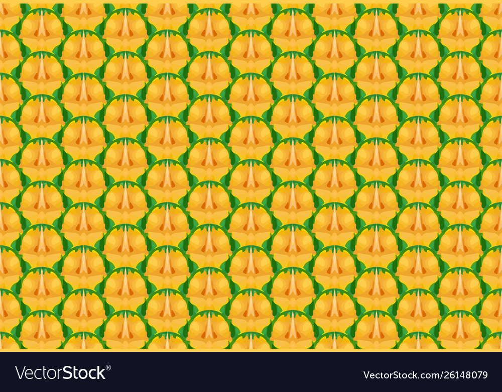Seamless pineapple texture and pattern
