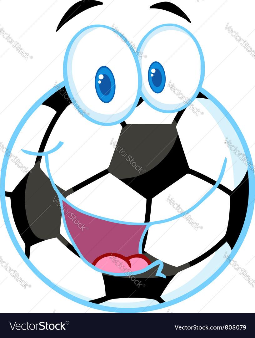 Soccer Ball Cartoon Character vector image