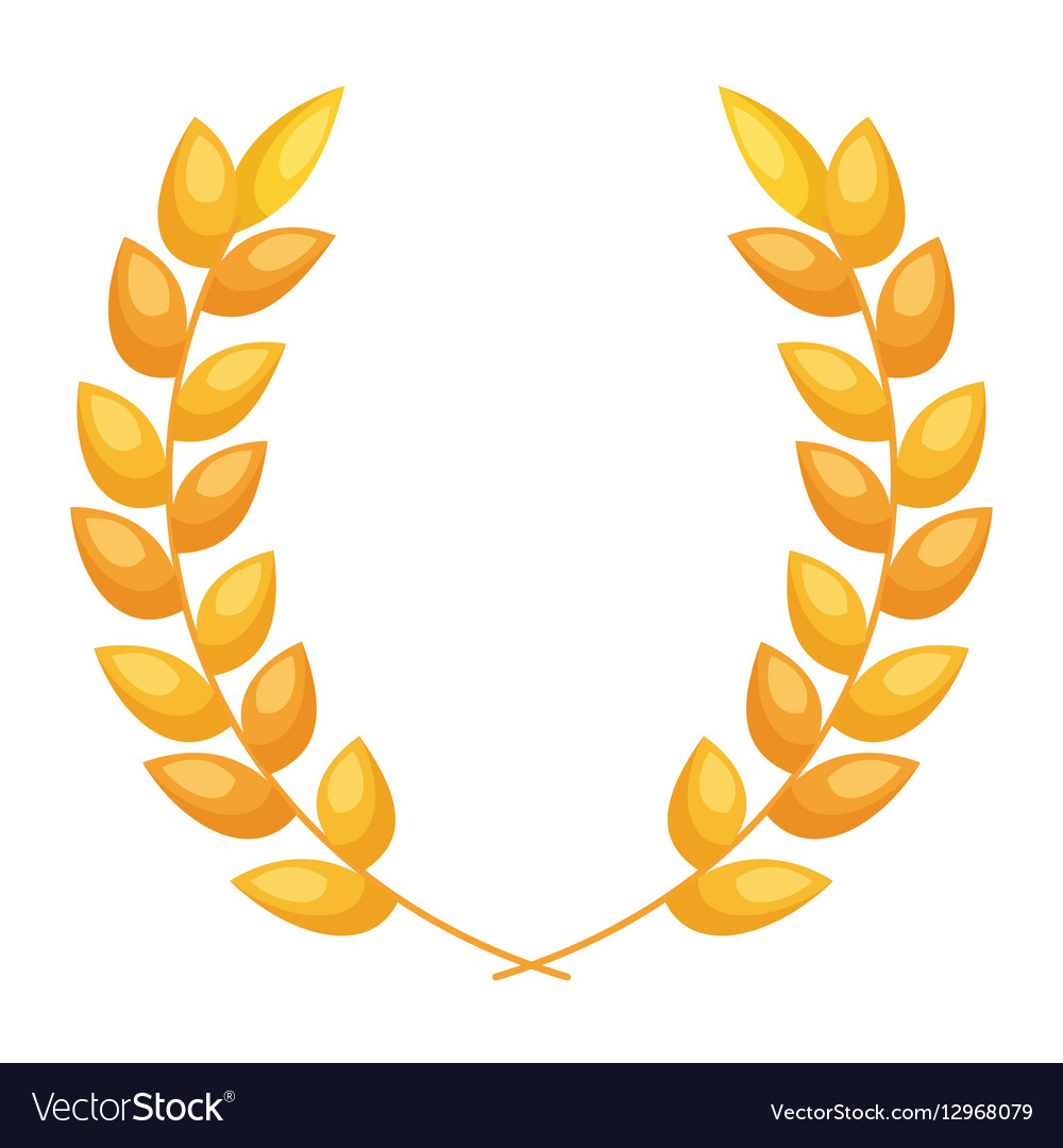 Wreath gold isolated icon