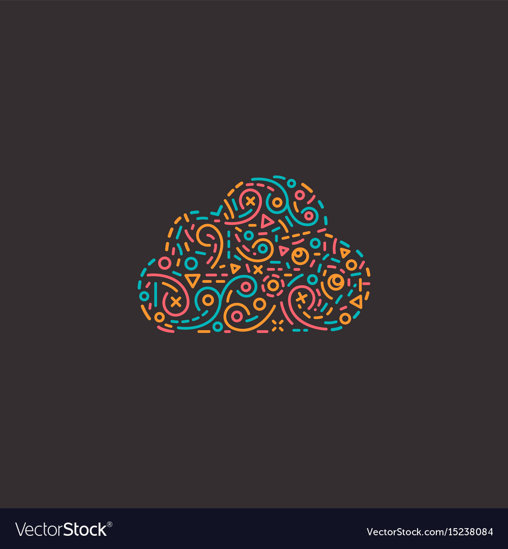 Abstract business logo icon with cloud