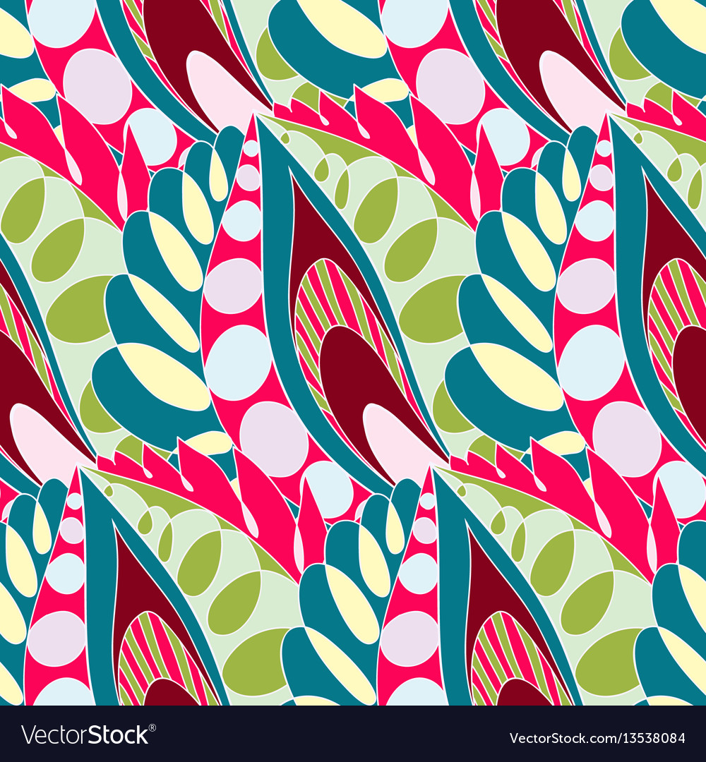 Bright seamless pattern in boho style