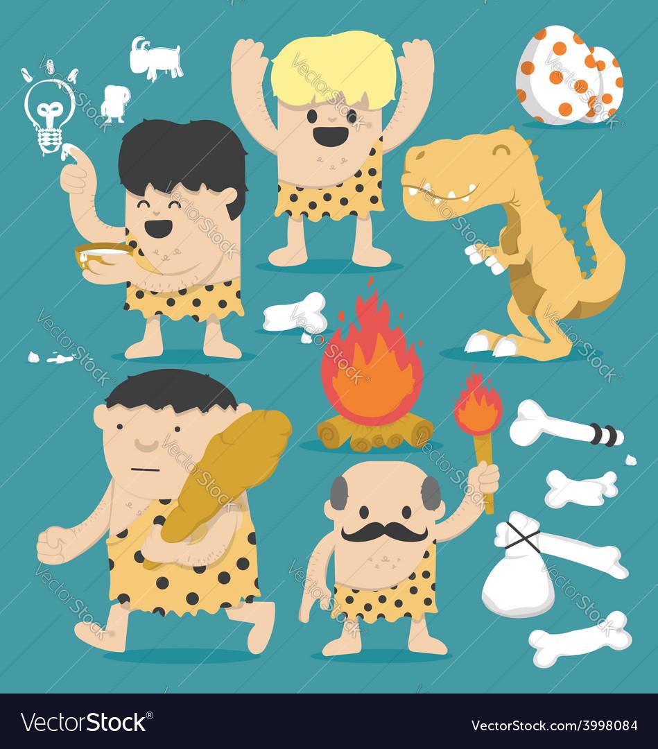 Cartoon Caveman set