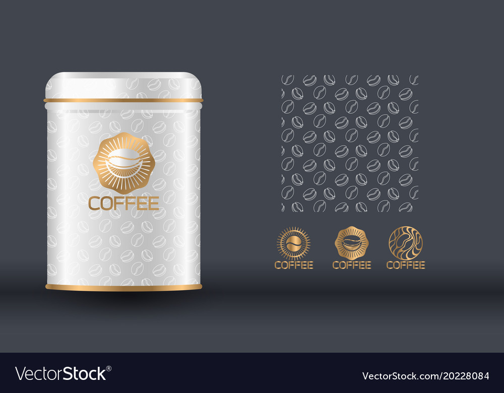 coffee packaging design template royalty free vector image