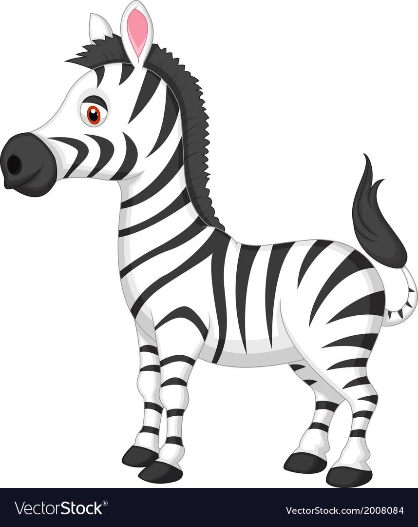 cute zebra cartoon royalty free vector image vectorstock rh vectorstock com free zebra cartoon images cartoon zebra face images