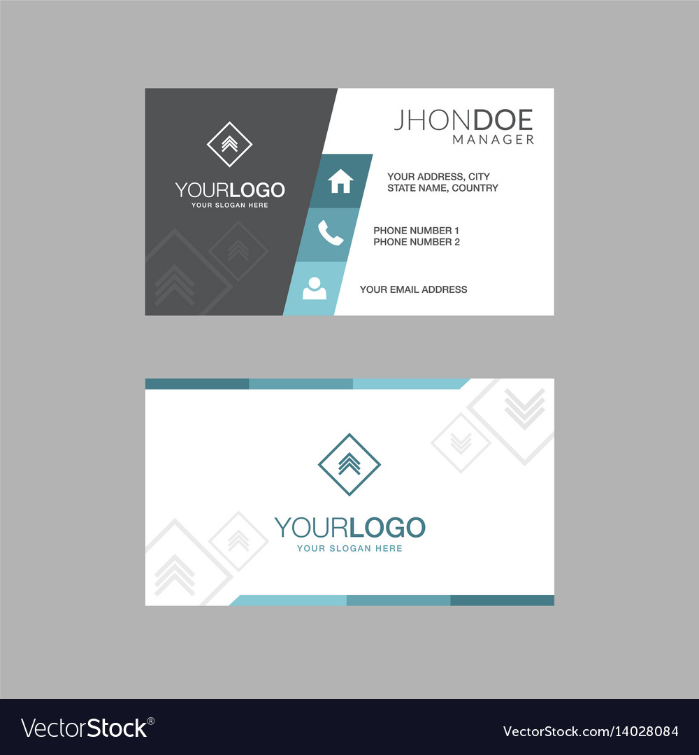 Geometric business cards