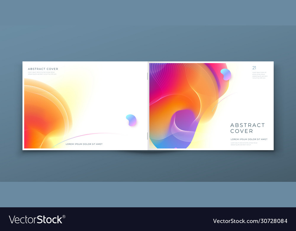 Horizontal Liquid Abstract Cover Background Design