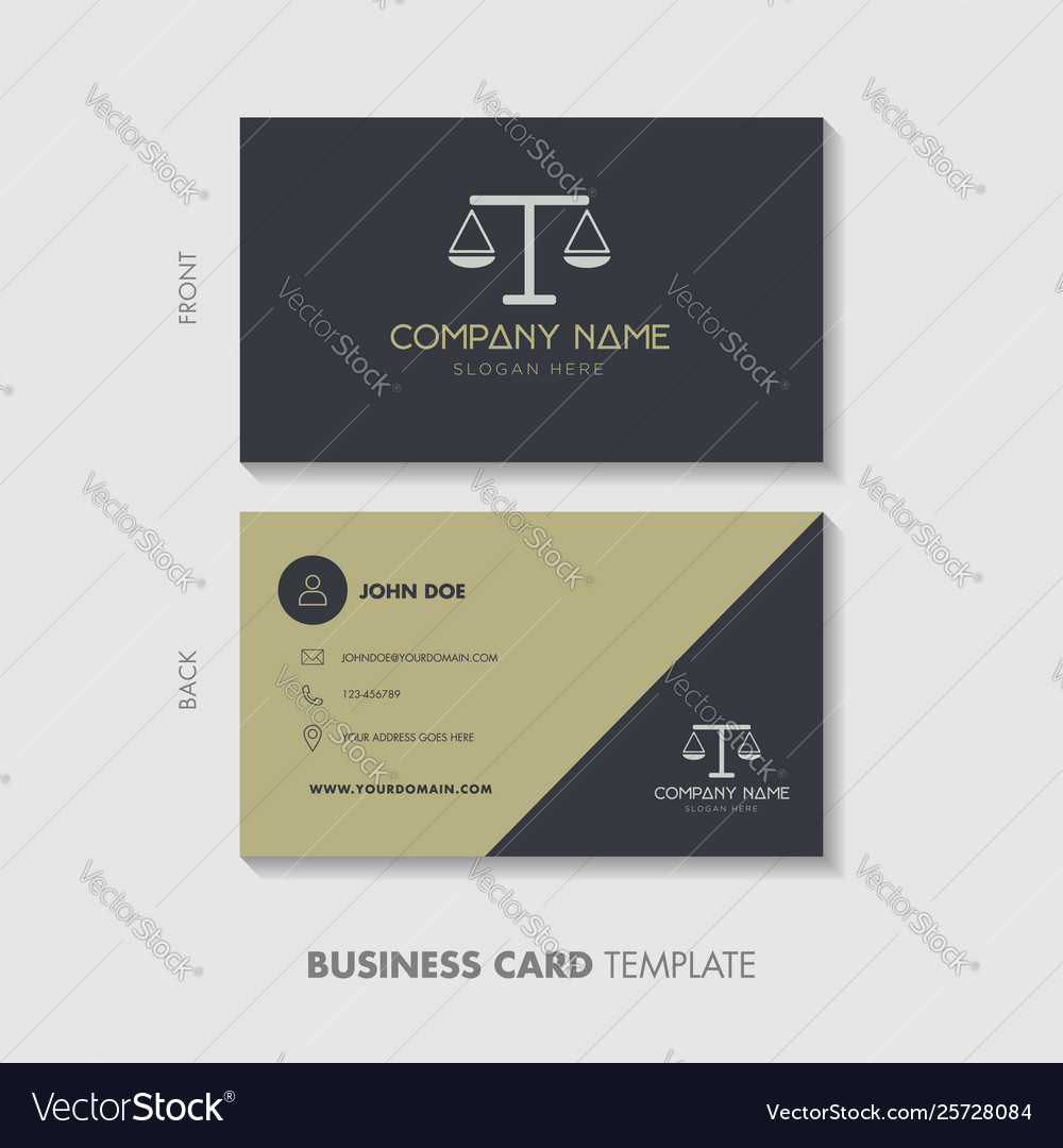 Lawyer Business Card Template Design