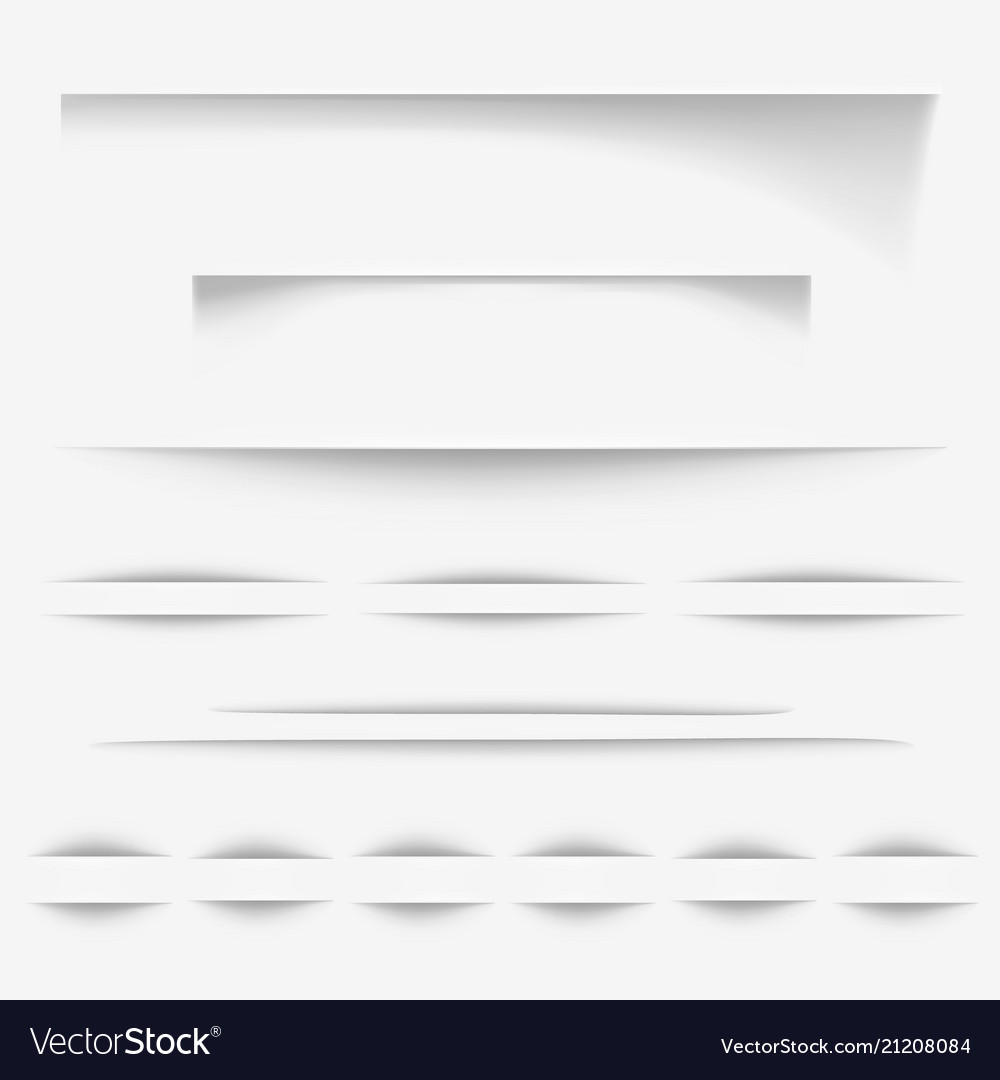 Paper shadow lines vector image