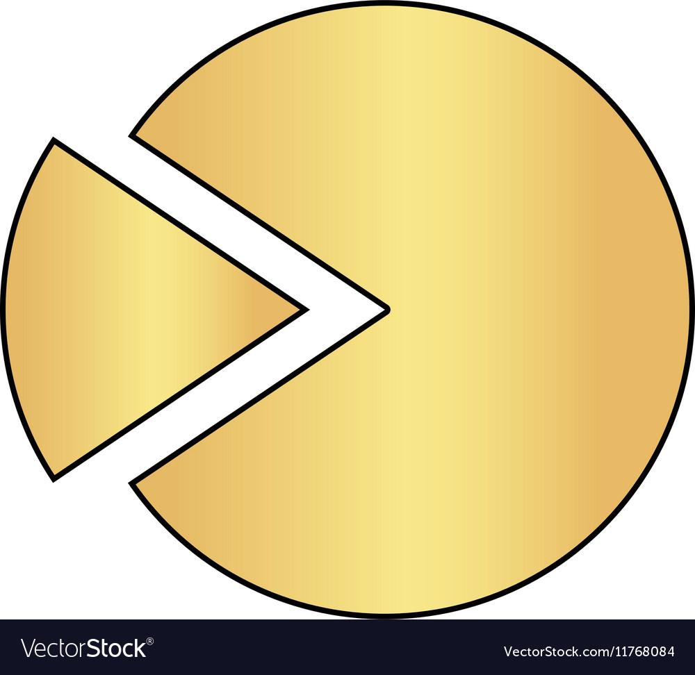Pie chart computer symbol