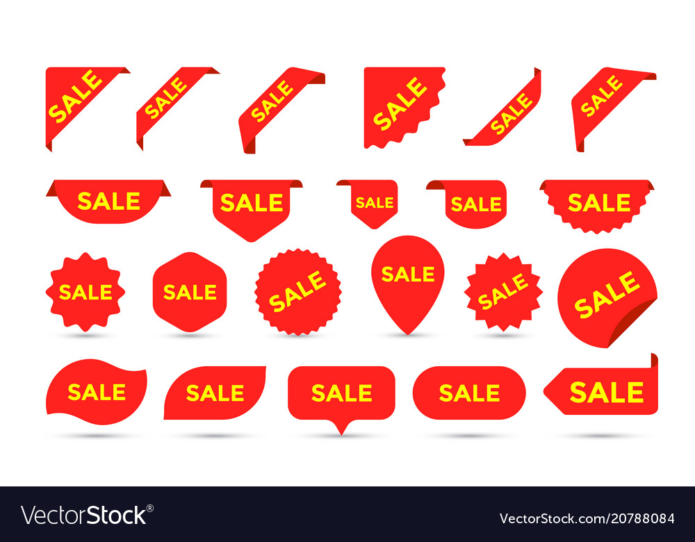 Stickers icons for shop sale tags labels