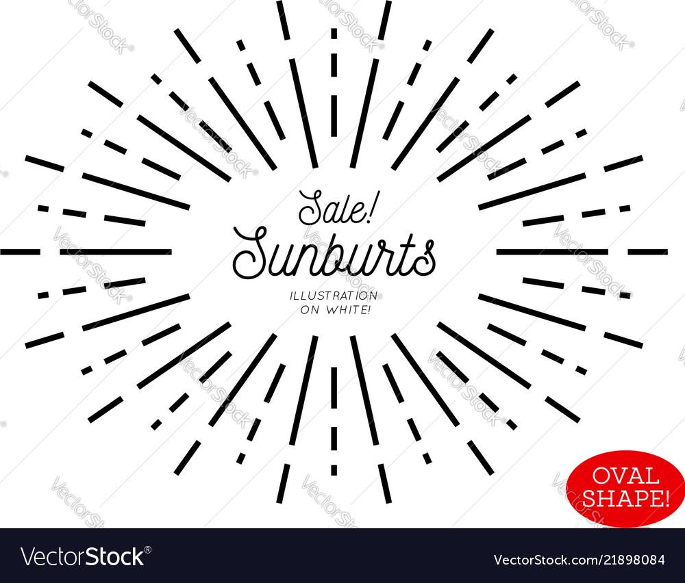 Sunburst design element oval shape
