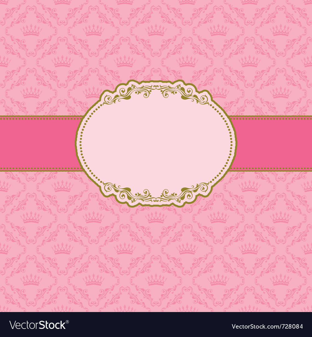 Template frame design vector image