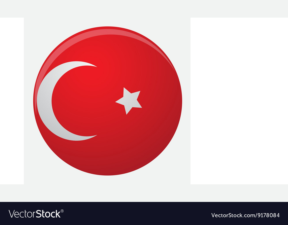 Turkey flag icon flat