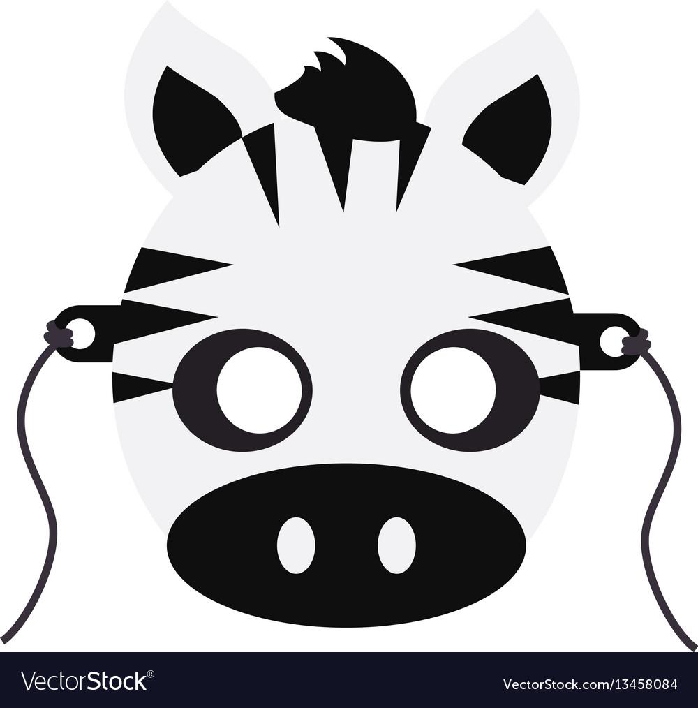 Zebra carnival mask striped black white animal