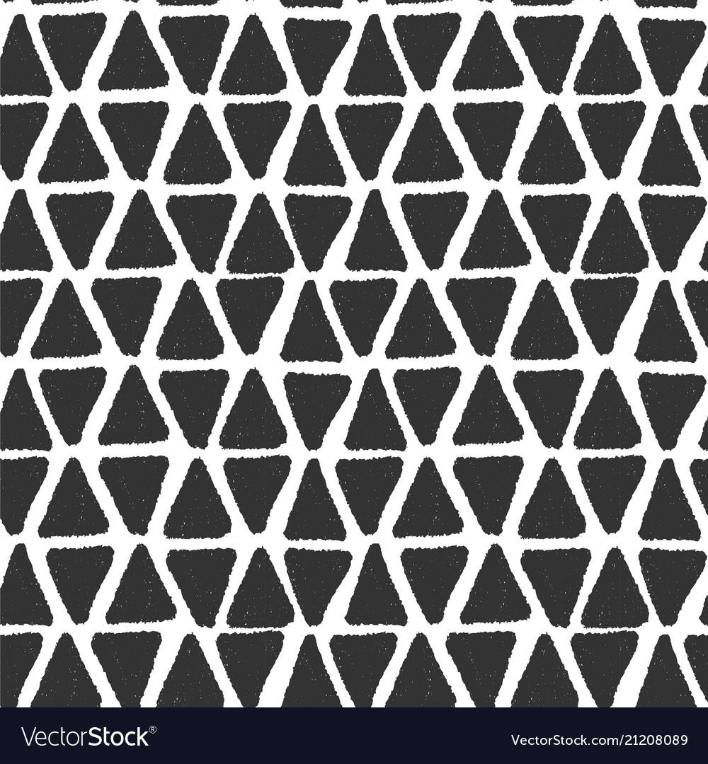 Black grunge triangle geometric brush seamless