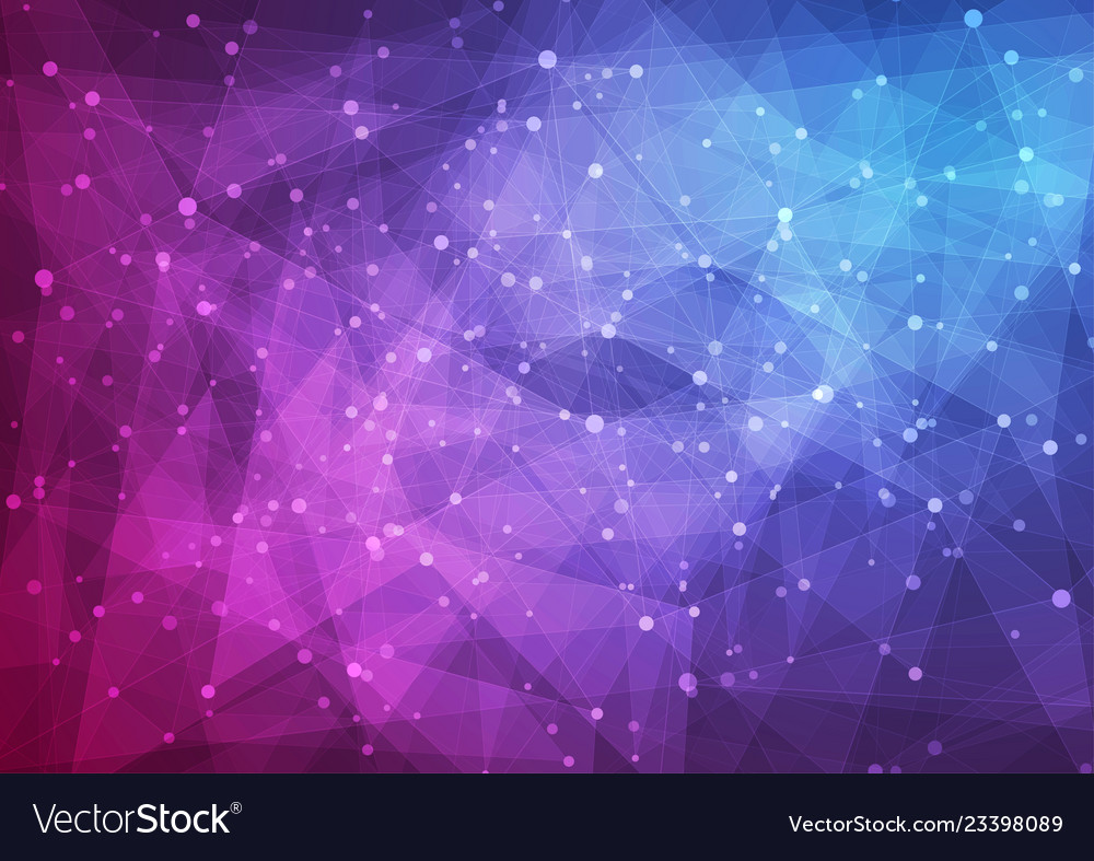 Blue purple abstract low poly technology