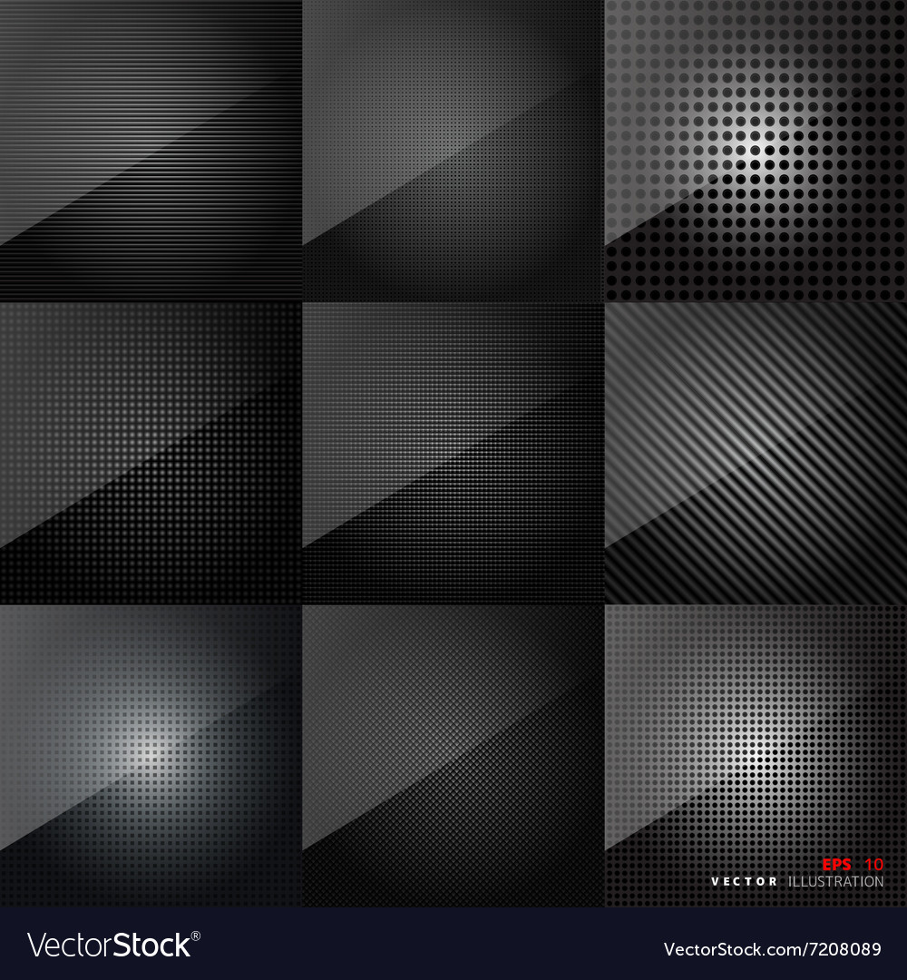 Carbon fiber texture Abstract backgrounds set