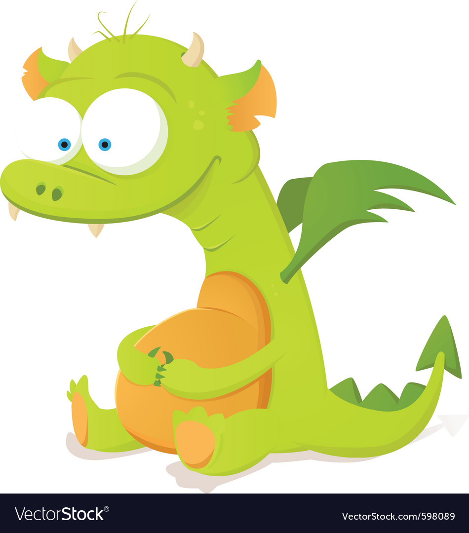 cute dragon character royalty free vector image