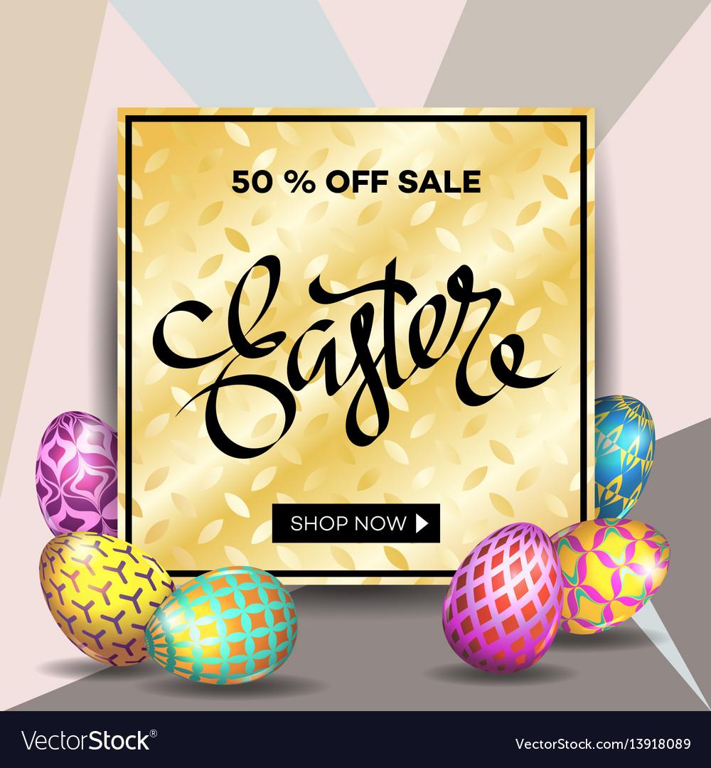Easter egg sale banner background template 10