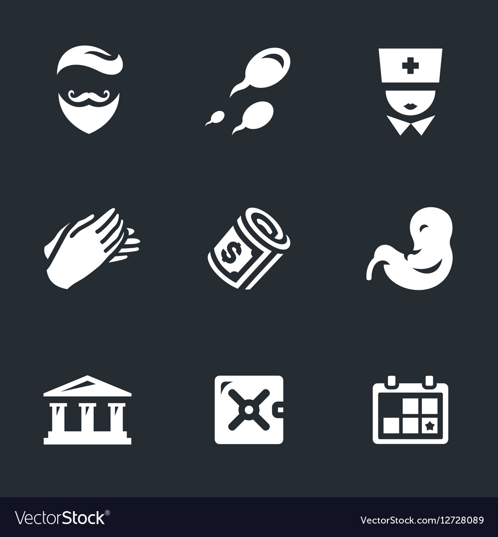 Icons Set of Reproduction Bank