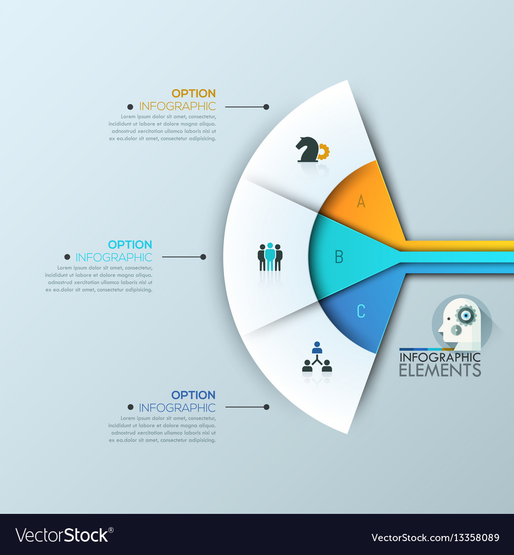Modern infographic design layout 3 connected