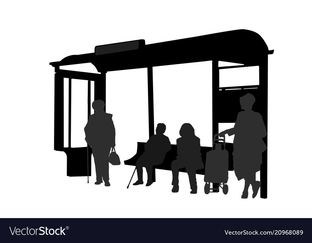 Passengers at bus station