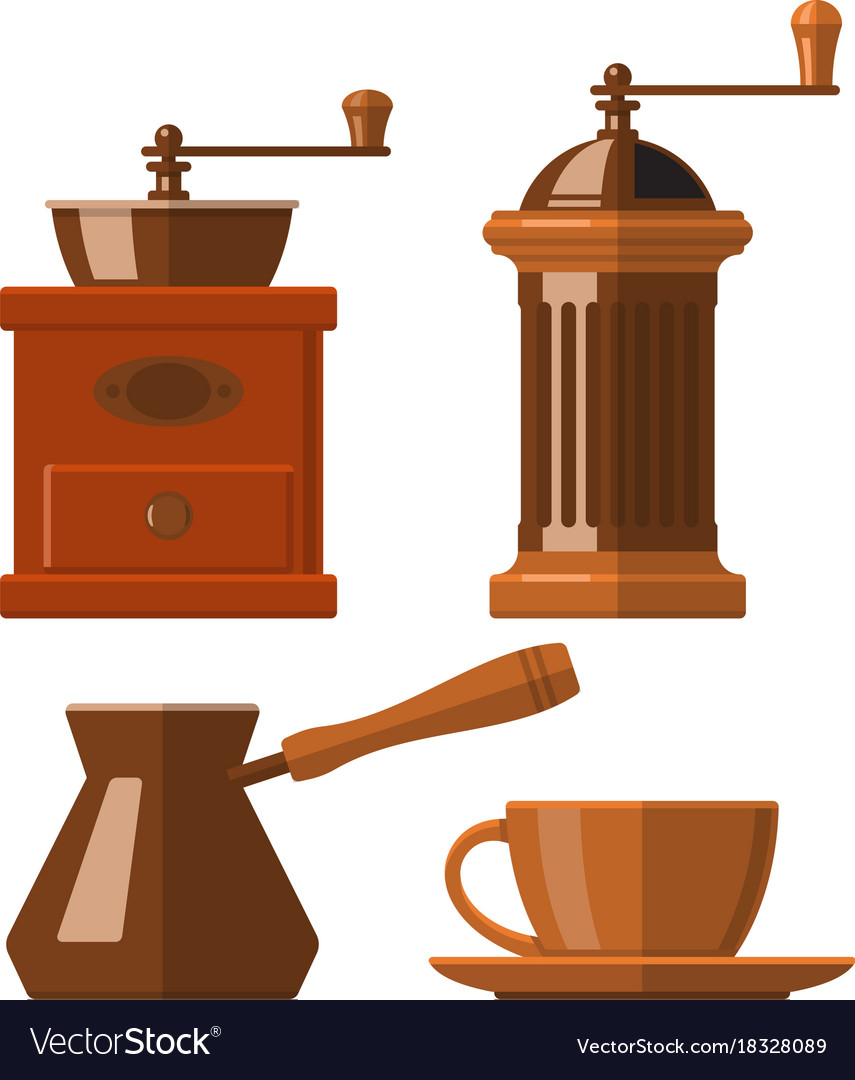 Set of icons of coffee accessories