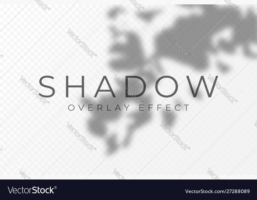 Shadow overlay effect transparent soft light and