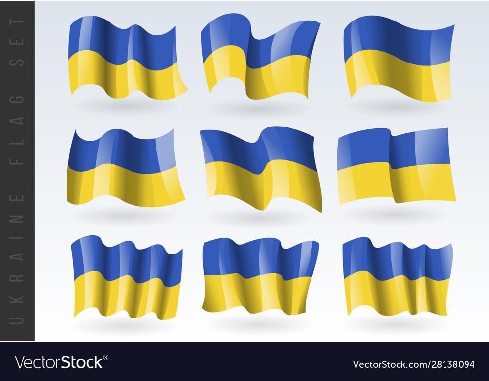 3d waving flag ukraine isolated on white