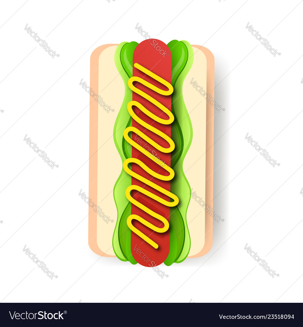 American hot dog sandwich with mustard poster