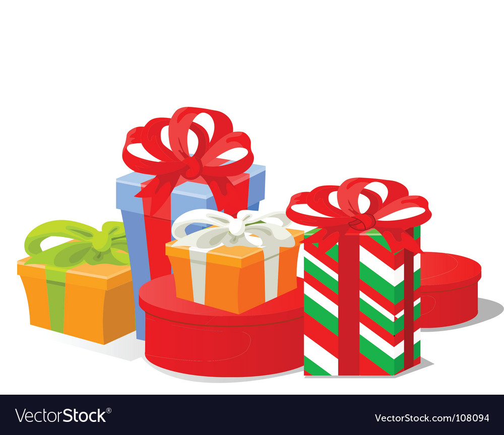 Christmas gifts Royalty Free Vector Image - VectorStock