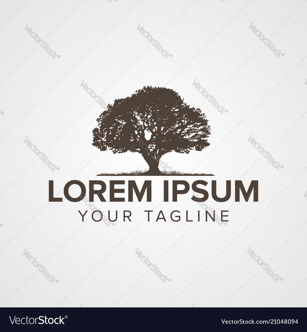 Creative tree logo concept design with chromatic