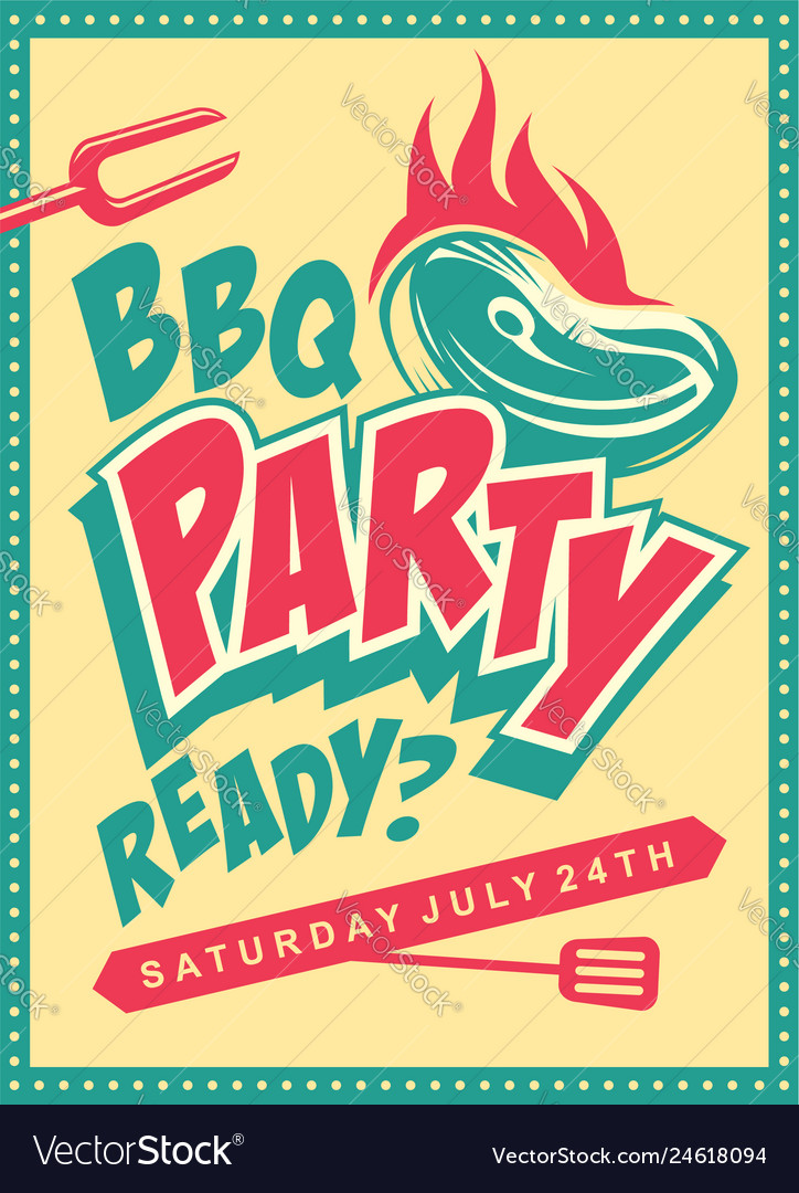 Funky design concept for barbecue party