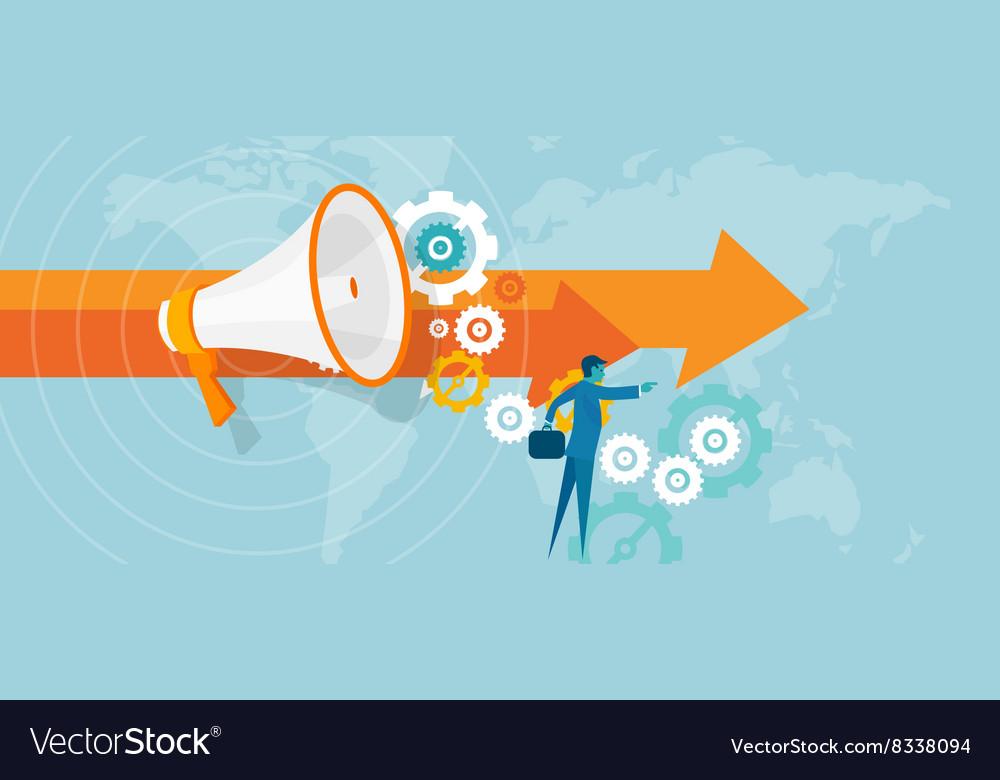 Leader leadership in business concept team work