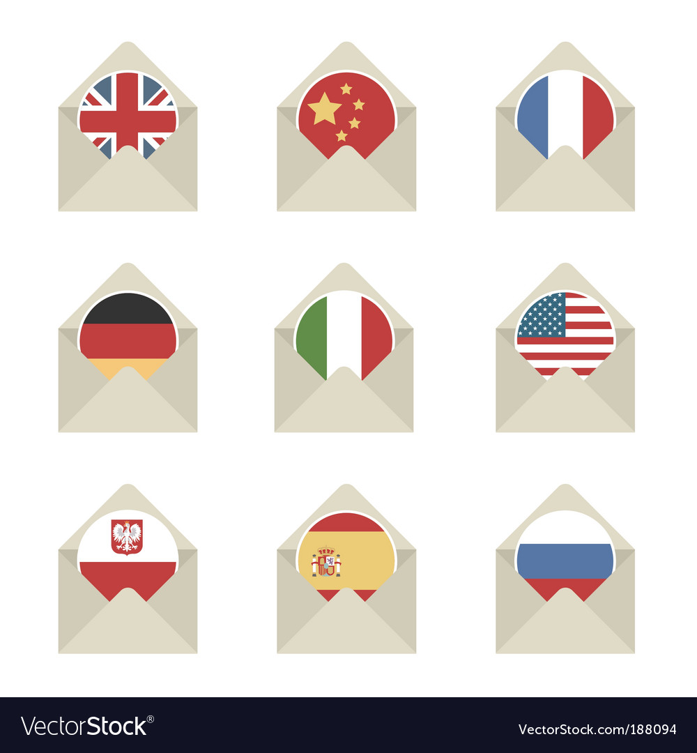 Mail flag icons